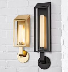 Lombard Lantern Large LED Wall Sconce Polished Nickel with Oil-Rubbed Bronze panel Bathroom Wall Sconces, Candle Wall Sconces, Outdoor Wall Sconce, Wall Sconce Lighting, Ikea Wall, Rustic Walls, Polished Nickel, Brushed Nickel, Glass Panels