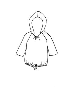 Happy Homemade sew-along: printable hoodie template for planning!