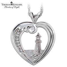 Capture your summer memories with this beautifully crafted pendant by the Bradford Exchange featuring Thomas Kinkade's Beacon of Hope.
