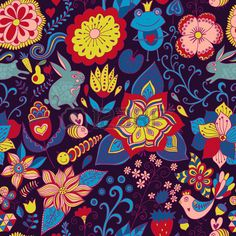 Doodle romantique floral texture Copiez ce carr sur le c t et vous obtiendrez de tuiles sans motif q Banque d'images