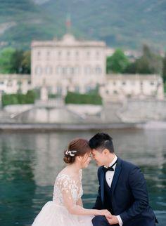 Fine Art Film Wedding Photographers in Lake Como Beautiful Villas, Lake Como, Bloom, Poses, Fine Art, Film, Wedding Dresses, Movie, Bride Gowns