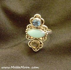 $20 on SALE!   MettaMoon Royal Blues Silver Ring