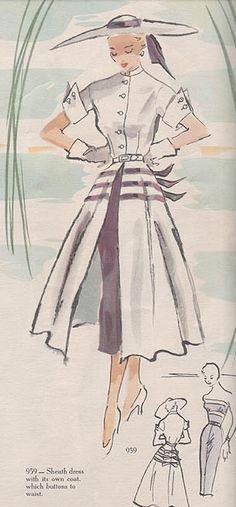 Modes Royale 959, ca 1951; Sz 16/Bust 34; Uncut