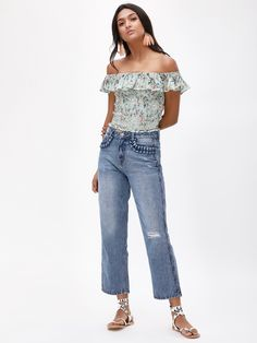 329a6ccfc93b31 Buy Decorative Pocket Ribbed Jeans For Women - Women's Blue Straight Jeans  Online in India Ribbed · Ribbed JeansStylish JeansGirl ...