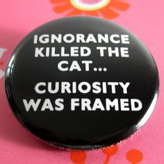 Ignorance Killed th Cat, Curiosity was Framed