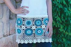 Hekel 'n rand vir jou T-hemp Hemp, Sequin Skirt, Sequins, Skirts, Afrikaans, Fashion, Christmas Ornaments, Moda, Skirt