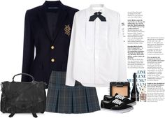 """new school"" by natalia ❤ liked on Polyvore"