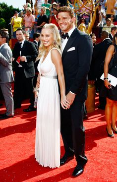 David Boreanaz & Jaime Bergman Photos - 60th Primetime Emmy Awards - Arrivals - Zimbio