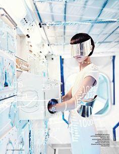 'Shenzhou 9' Grace Guozhi by Marc De Groot for Vogue Netherlands September 2012