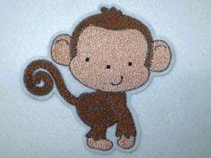Aufnäher - kleiner Affe - Äffchen -  Applikation  von STICKTRAUM auf DaWanda.com