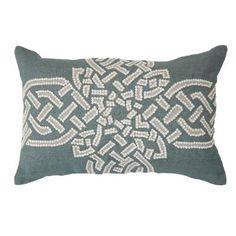 Celtic Cross Celladon Lumber Cushion 35x53cm - Bandhini Homewear Design
