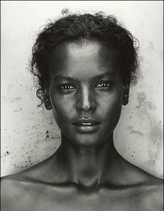 black and white style  pictures + beauty | liya kebede in black and white portrait