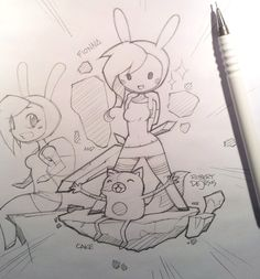 Fionna and cake drawing