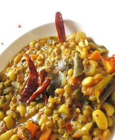 black-eyed pea mung bean sambar