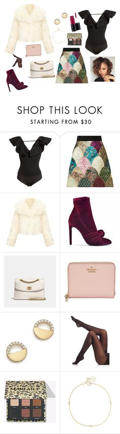 """Wine tasting at its finest."" by bunnisexy ❤ liked on Polyvore featuring Leith, Dolce&Gabbana, Giuseppe Zanotti, Coach, Kate Spade, Bloomingdale's, SPANX and Anissa Kermiche"