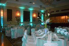 Tiffany blue wedding reception at Anthony's Pier 9 in New Windsor NY