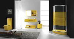 yellow bathroom sets | Powerful and Pretty Yellow Bathroom Design