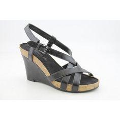 Aerosoles At First Plush black wedge sandal