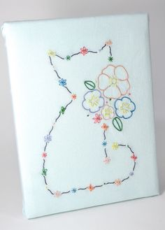 This beautiful embroidery design by Crossibilities is printed on water soluble fabric. It allows you to embroider on any fabric you want, dark or light, as long as it can be washed. When you are done with your embroidery you simply wash it in a bowl of water and all that will stay behind is your lovely embroidery.