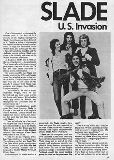 Slade - Hit Parader - April, 1973 Slade Band, Noddy Holder, Teen Magazines, British Rock, Rock N Roll, Articles, People, Rock Roll, People Illustration