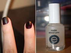 They barely tried in this picture, but this is the  matte top coat I want- better price than Chanel, for example, geesh.