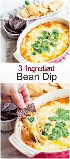 When you need a tast When you need a tasty appetizer in less...  When you need a tast When you need a tasty appetizer in less than 30 minutes to feed a crowd this 3-ingredient bean dip will be your answer! Cheesy and filling dip with ton of flavor without much effort. Recipe : http://ift.tt/1hGiZgA And @ItsNutella  http://ift.tt/2v8iUYW