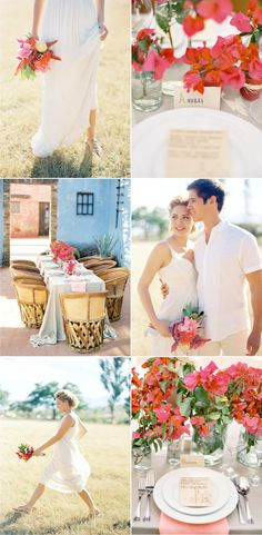 love the easiness of this light and colorful wedding workshop by jose villa