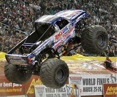 Shock Therapy Monster Truck rearing up in the air like a bold stallion Monster Truck Madness, Monster Truck Show, Monster Mud, Monster Trucks, Dodge Trucks, Pickup Trucks, Monster Pictures, Motocross Racing, Tractor Pulling