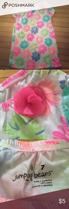 Jumping beans floral top size 7 girls Size 7 top girls floral blue yellow coral pink green colors. Made in Guatemala 100% cotton Jumping Beans Shirts & Tops