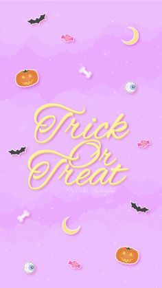 Halloween Trick or Treat iPhone Lock Wallpaper @PanPins