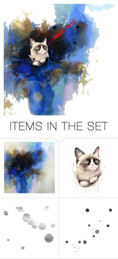 """""""Grumpy cat hate art"""" by jupiterpaw ❤ liked on Polyvore featuring art"""