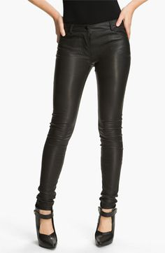 T by Alexander Wang Stretch Leather Pants #Nordstrom #falltrends