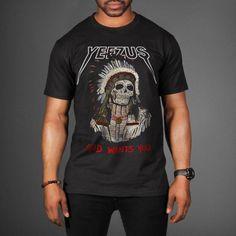 kanye shirt | Red Indian Skeleton Kanye West Yeezus Tour T-Shirt