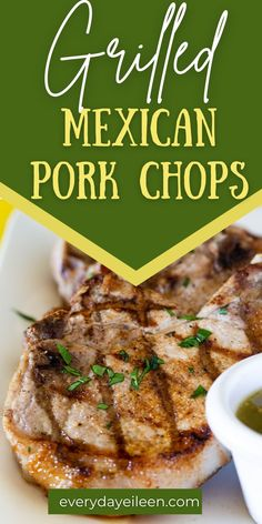 Grilled Pork Chops seasoned with a homemade Mexican spice rub for an easy and quick family recipe. Use either bone-in or boneless pork chops for this tast grilled meat recipe. Grilled Pork Chop Seasoning, Grilled Pork Chops, Boneless Pork Chops, Grilled Meat, Mexican Pork Chops, Mexican Spice, Appetizer Recipes, Dinner Recipes, Mexican Seasoning