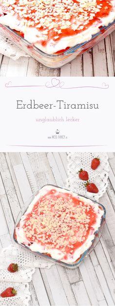 Dieses Erdbeer-Tiramisu ist eine kleine Sünde. Sowas von lecker und herrlich frisch, mit dem Geschmack frischer Erdbeeren – einfach unwiderstehlich