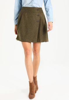 Hobbs KERYS - A-line skirt - khaki - Zalando.co.uk