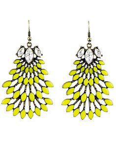 Yellow Gemstone Earrings