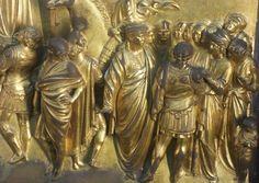 Ghiberti. Battistero di Firenze, porta del Paradiso