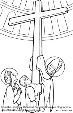 FREE coloring page for the Feast of the Exaltation of the