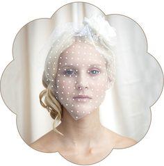 Brautschleier - Tianna Kurzschleier, Braut Schleier, Haarschmuck - ein Designerstück von Schoenmich-Accessoires bei DaWanda