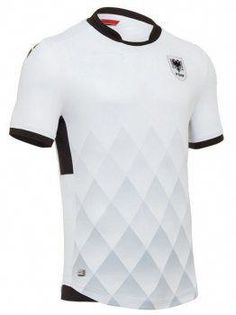 Albania National Team 2017-18 Away White Soccer Shirt Jersey  J729    soccertips 752536831