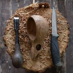 Naturally dried Oak. This Oak is very beautiful but very very hard. #morakniv…