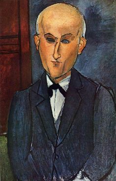 Max Jacob (1876-1944) painted by Amedeo Modigliani.