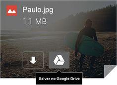 Anexo de foto do Gmail salvo no Drive com um clique