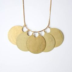 Myrtle // eco friendly handmade brass necklace by clydesrebirth, $68.00