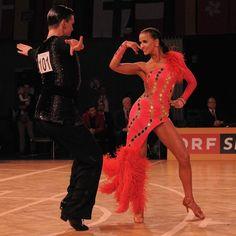 Austrian champions latin Katharina Würrer & Gustavs Arajs. Outfits by Diamond Dance. #vienna #dress #latin #dance