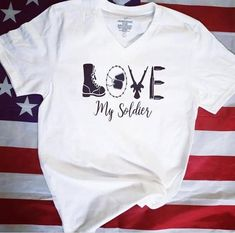 Love my Soldier, Love my soldier shirt, military shirt Soldier Love, Military Shirt, Gifts For My Boyfriend, Perfect For Me, Soldiers, Unisex, Watch, My Love, Colors
