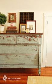 Milk paint can do this...who knew??