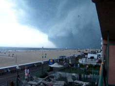 Ocean City Maryland Mesocyclone Storm rolls in with Tornado watches for ...