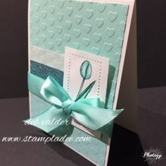www.stampladee.com  Simple cardmaking with Fun Stampers Journey stamp set called Amazing Day with Deb Valder.  I used the I Heart Embossing folder also.  Super Cute